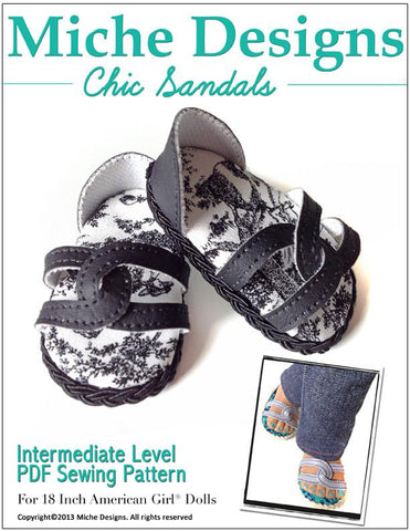 "Chic Sandals 18"" Doll Shoes"