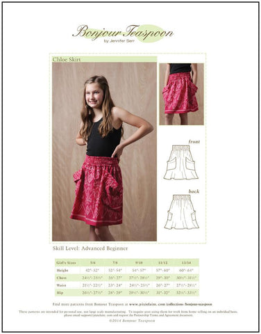 Chloe Skirt Pattern for Girls