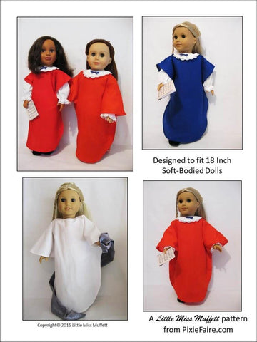 "Choirs of Angels 18"" Doll Clothes Pattern"