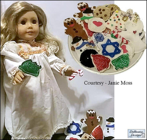"Christmas Cookies 18"" Doll Accessory Pattern"