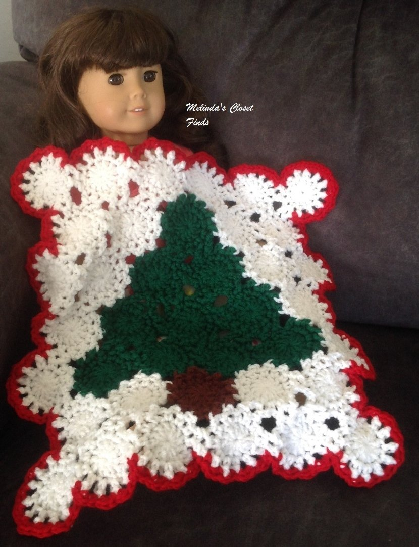 Melindas Closet Finds Crocheted Christmas Nordic Afghan 18 Inch