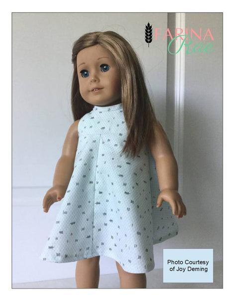 Farina Rae Christy Dress Doll Clothes Pattern 18 Inch