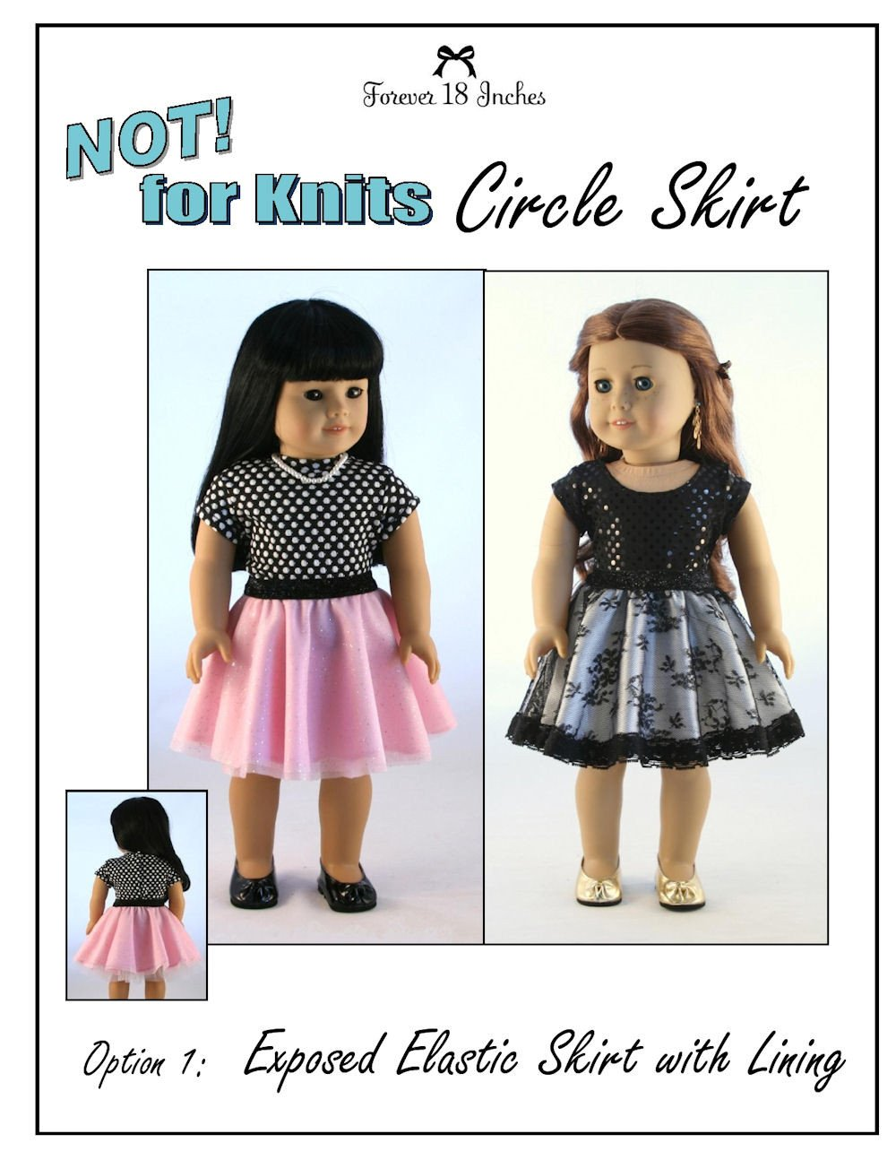 Forever 18 inches not for knits circle skirt doll clothes pattern not for knits circle skirt 18 doll clothes bankloansurffo Image collections