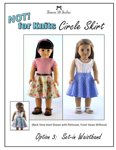 "NOT! for Knits Circle Skirt 18"" Doll Clothes"