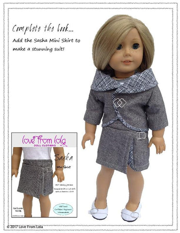 "Circles Around Jacket 18"" Doll Clothes Pattern"