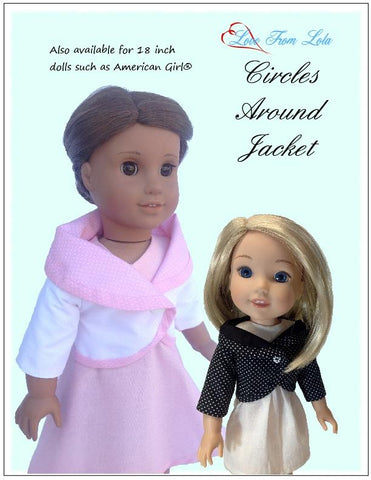 "Circles Around Jacket 14.5"" Doll Clothes Pattern"