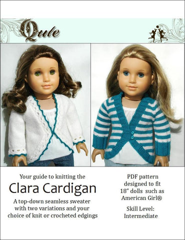 Qute Knitting Clara Cardigan Crochet and Knitting Pattern Pixie Faire