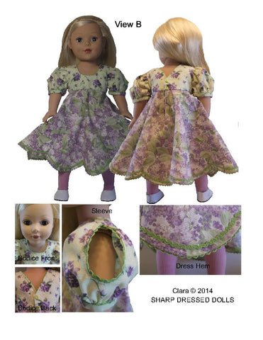 "Sharp Dressed Dolls 18 Inch Modern Clara Dress 18"" Doll Clothes Pixie Faire"