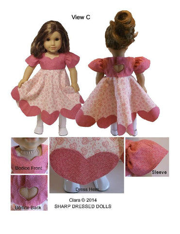 "Clara Dress 18"" Doll Clothes"