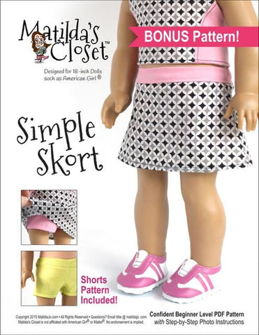 "Class Act: Cropped Top Collection plus Bonus Simple Skort 18"" Doll Clothes"
