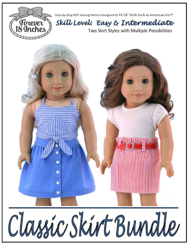 "Classic Skirt Bundle 18"" Doll Clothes"