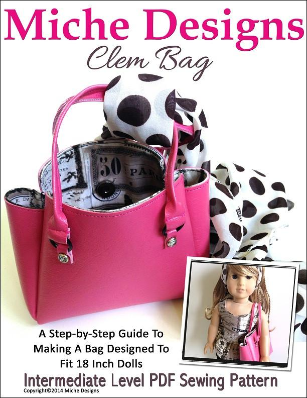 Clem Bag 18 Inch Doll Accessories Pdf Pattern Download