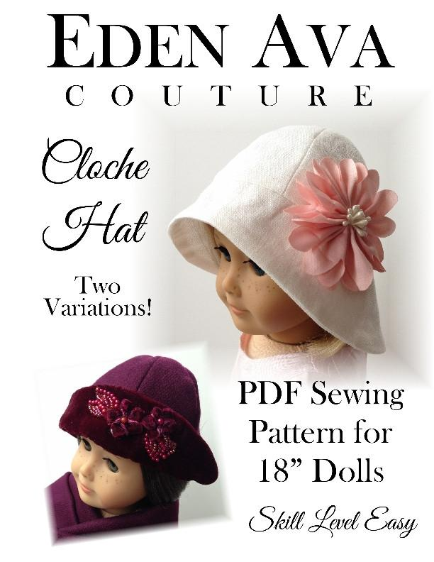 Cloche Hat 18 Inch Doll Clothes Pdf Pattern Download Pixie Faire