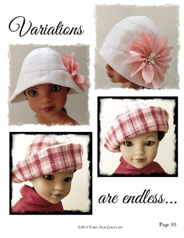 "Cloche Hat for 13-14.5"" Dolls"