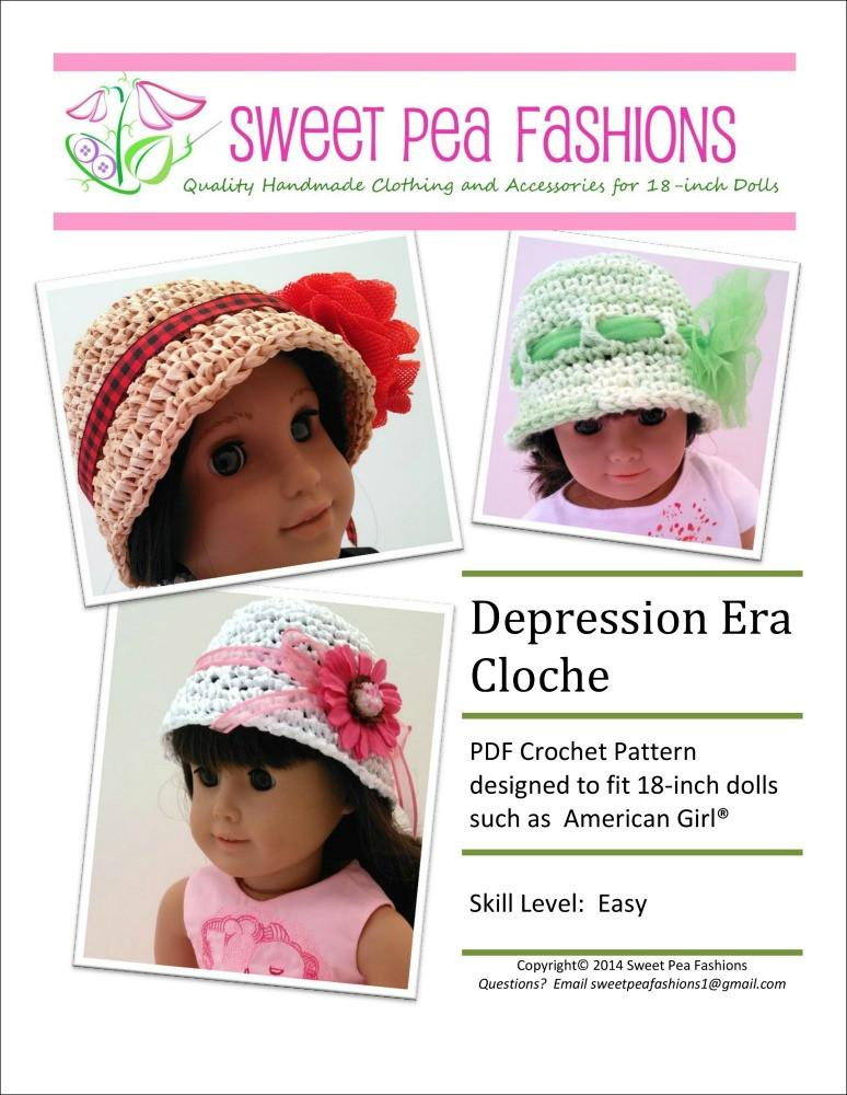 Depression Era Cloche Hat Crochet Pattern Pdf Pattern Download