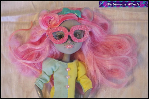 Clown Chic Sheath Dress and Glasses for Monster High Dolls