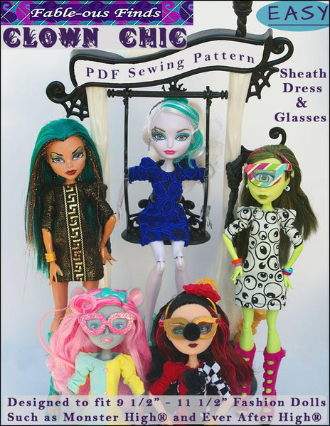 Fable Ous Finds Clown Chic Sheath Dress And Glasses Doll