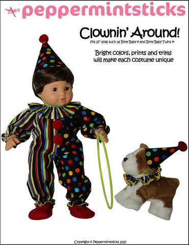 "Clownin' Around! 15"" Baby Doll Clothes Pattern"