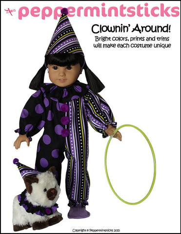 "Clownin' Around! 18"" Doll Clothes Pattern"