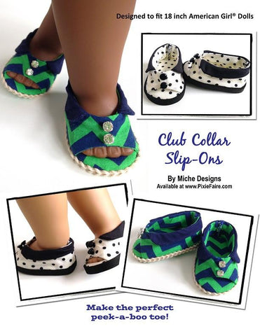 "Club Collar Slip-Ons 18"" Doll Shoes"