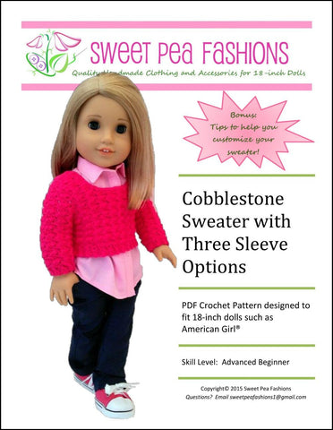 Cobblestone Sweater with Three Sleeve Options Crochet Pattern