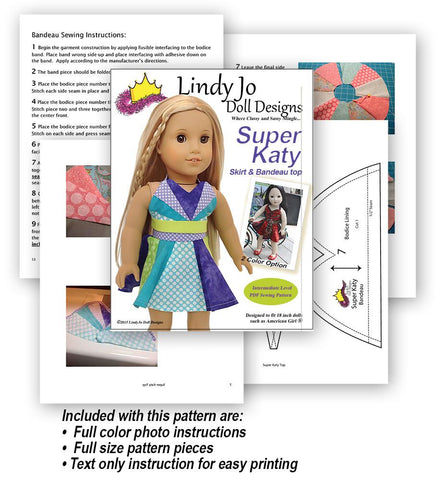 "Super Katy 18"" Doll Clothes Pattern"