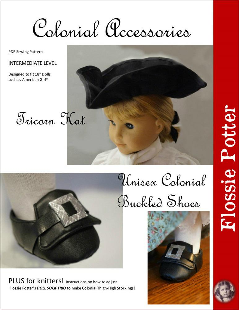 Flossie Potter Colonial Accessories Doll Clothes Pattern 18 inch ... 211429c2305