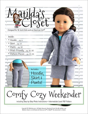 "Matilda's Closet 18 Inch Modern Comfy Cozy Weekender 18"" Doll Clothes Pixie Faire"
