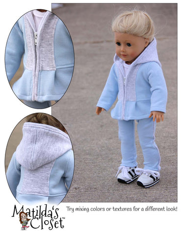 "Comfy Cozy Weekender 18"" Doll Clothes"