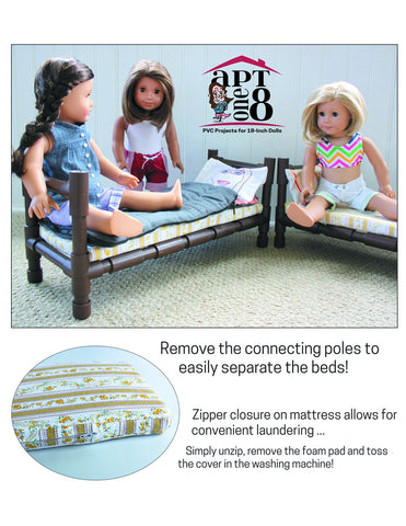 "Convertible Bunk Bed 18"" PVC Pattern"