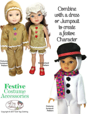 Festive Costume Accessories Pattern for 14 to 14.5 Inch Dolls