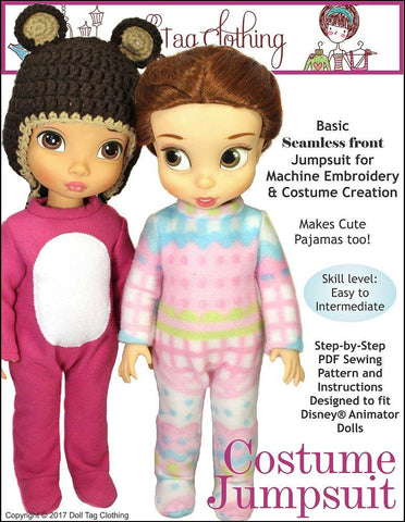 Doll Tag Clothing Disney Doll Costume Jumpsuit Pattern for Disney Animators' Dolls Pixie Faire