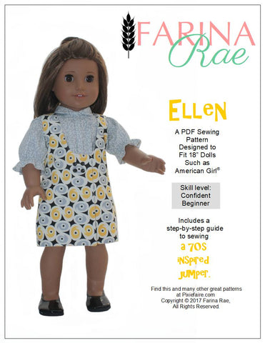 "Ellen Jumper 18"" Doll Clothes Pattern"