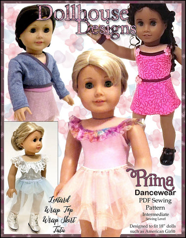 "Prima Dancewear 18"" Doll Clothes Pattern"
