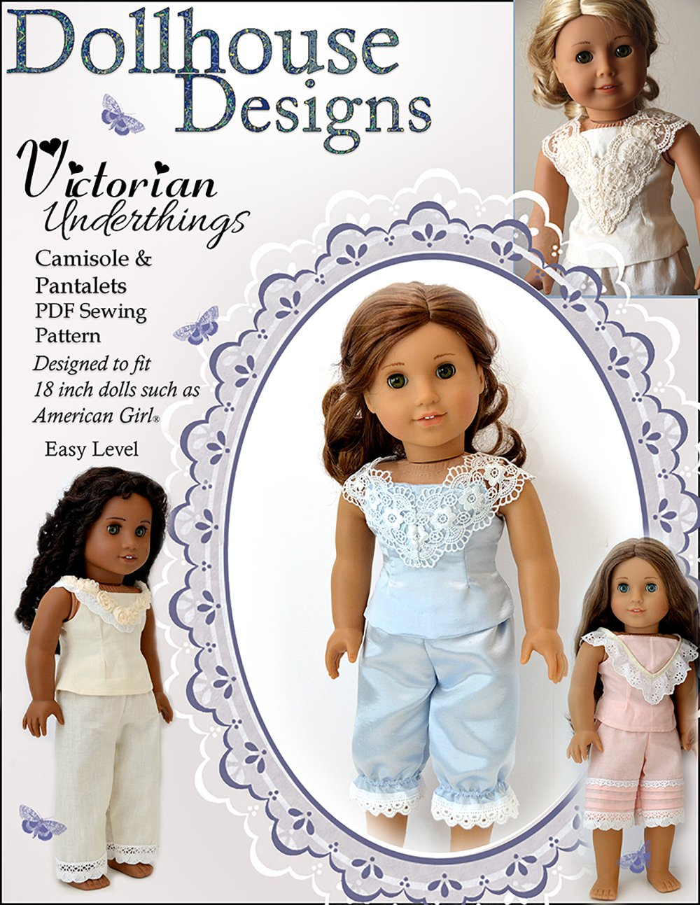 Dollhouse Designs Victorian Underthings Doll Clothes Pattern 18 inch ...
