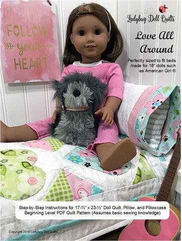 "Love All Around 18"" Doll Quilt Pattern"
