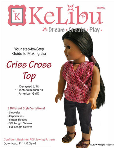 "Criss-Cross Top 18"" Doll Clothes"