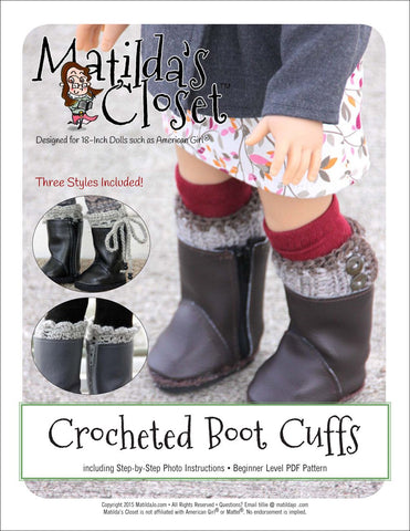 18 Inch Doll Shoe Patterns - Boots | Pixie Faire