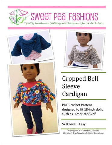Cropped Bell Sleeve Cardigan Crochet Pattern