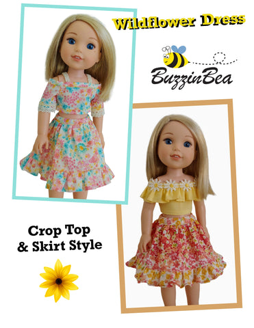 "Wildflower Dress 14.5"" Doll Clothes Pattern"