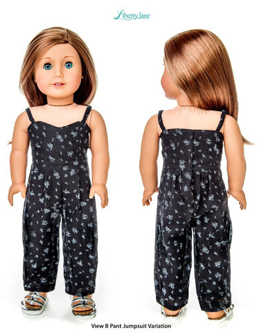 "Liberty Jane 18 Inch Modern Culotte Jumpsuit 18"" Doll Clothes Pattern Pixie Faire"