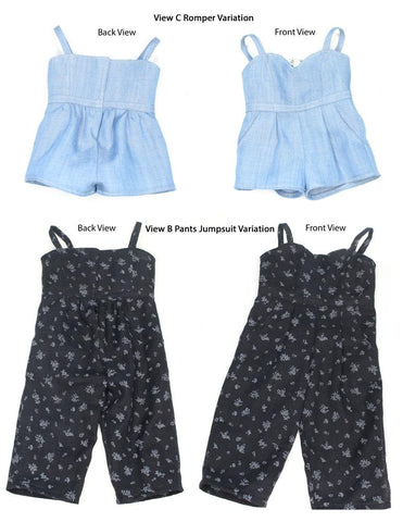 "Culotte Jumpsuit 18"" Doll Clothes Pattern"