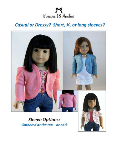 "The Curving Cardigan 18"" Doll Clothes"