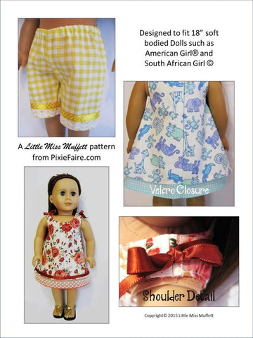 "Cute Cotton Candy 18"" Doll Clothes Pattern"