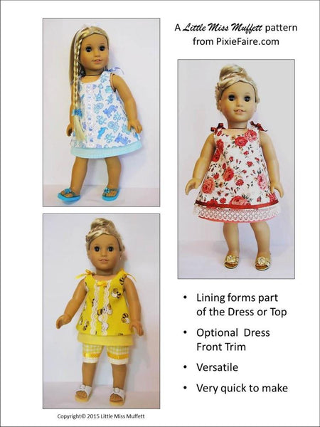 Little Miss Muffett Cute Cotton Candy Doll Clothes Pattern