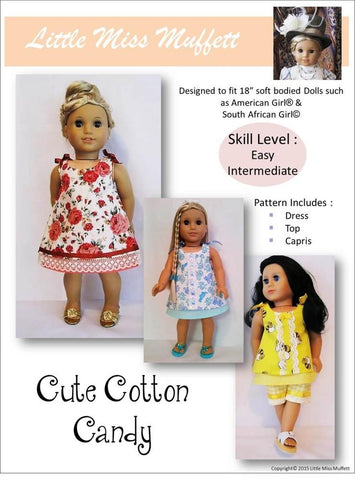 "Cute Cotton Candy 18"" Doll Clothes"