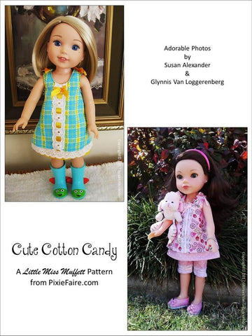 "Cute Cotton Candy 14-14.5"" Doll Clothes Pattern"