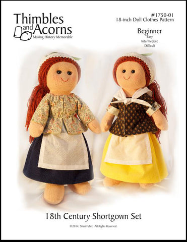 18th Century Shortgown Set Pattern for Dress a Doll