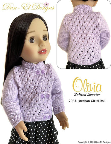 "Olivia Sweater Doll Knitting Pattern for 20"" Australian Girl®"