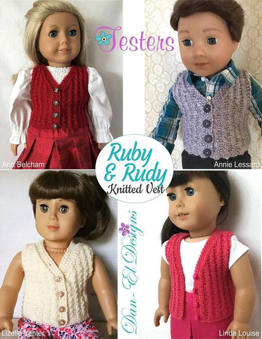 "Ruby & Rudy 18"" Doll Knitting Pattern"
